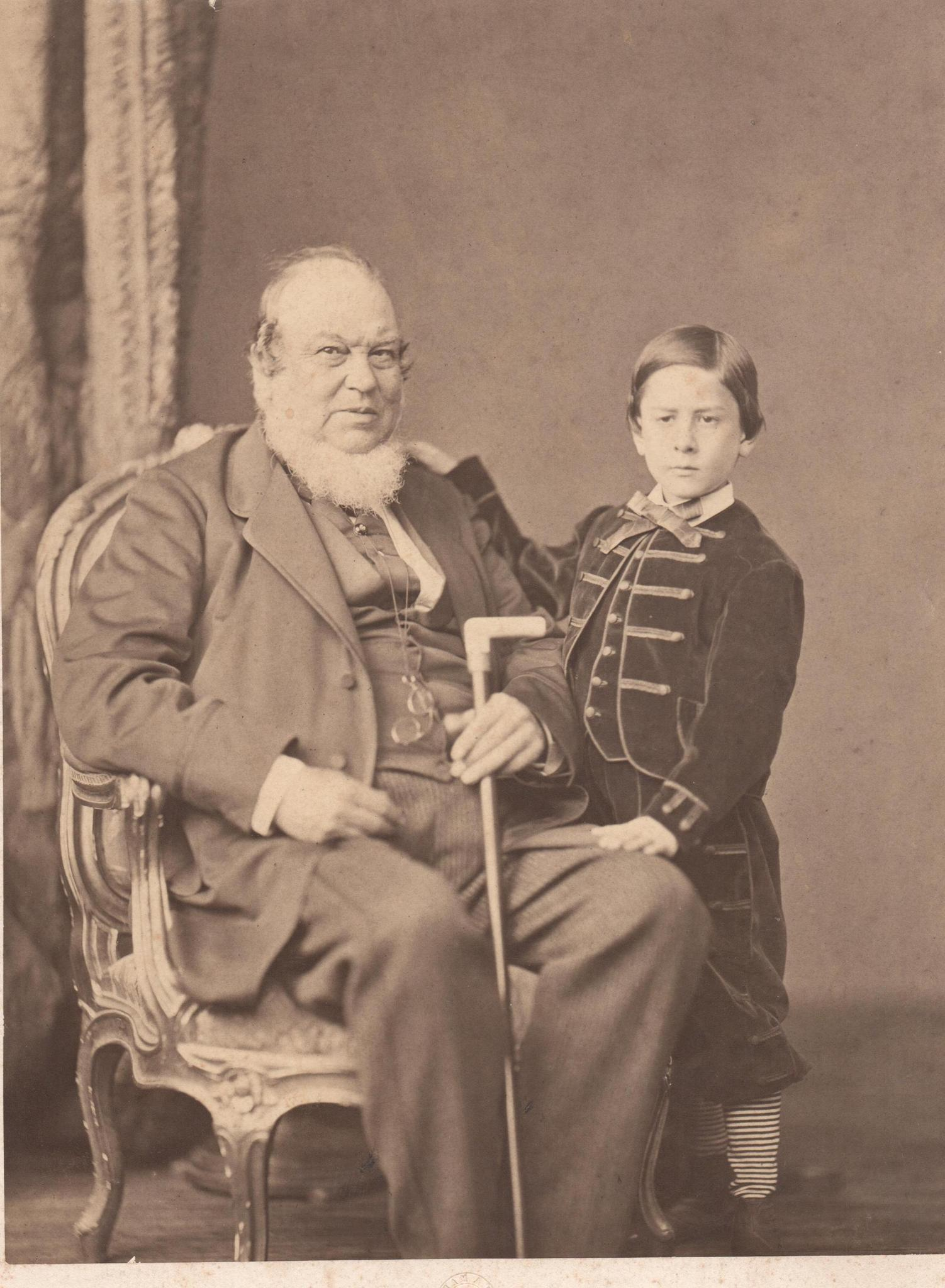 Benjamin Fitch and his grand-nephew, Augustus B. Fitch, circa 1860. On July 4, 1864, some 3,000 people gathered for formal dedication of Fitch's Home for the Soldiers and Their Orphans in Noroton Heights in Darien. The home would later move to Rocky Hill and become the state Veterans Home and Hospital.