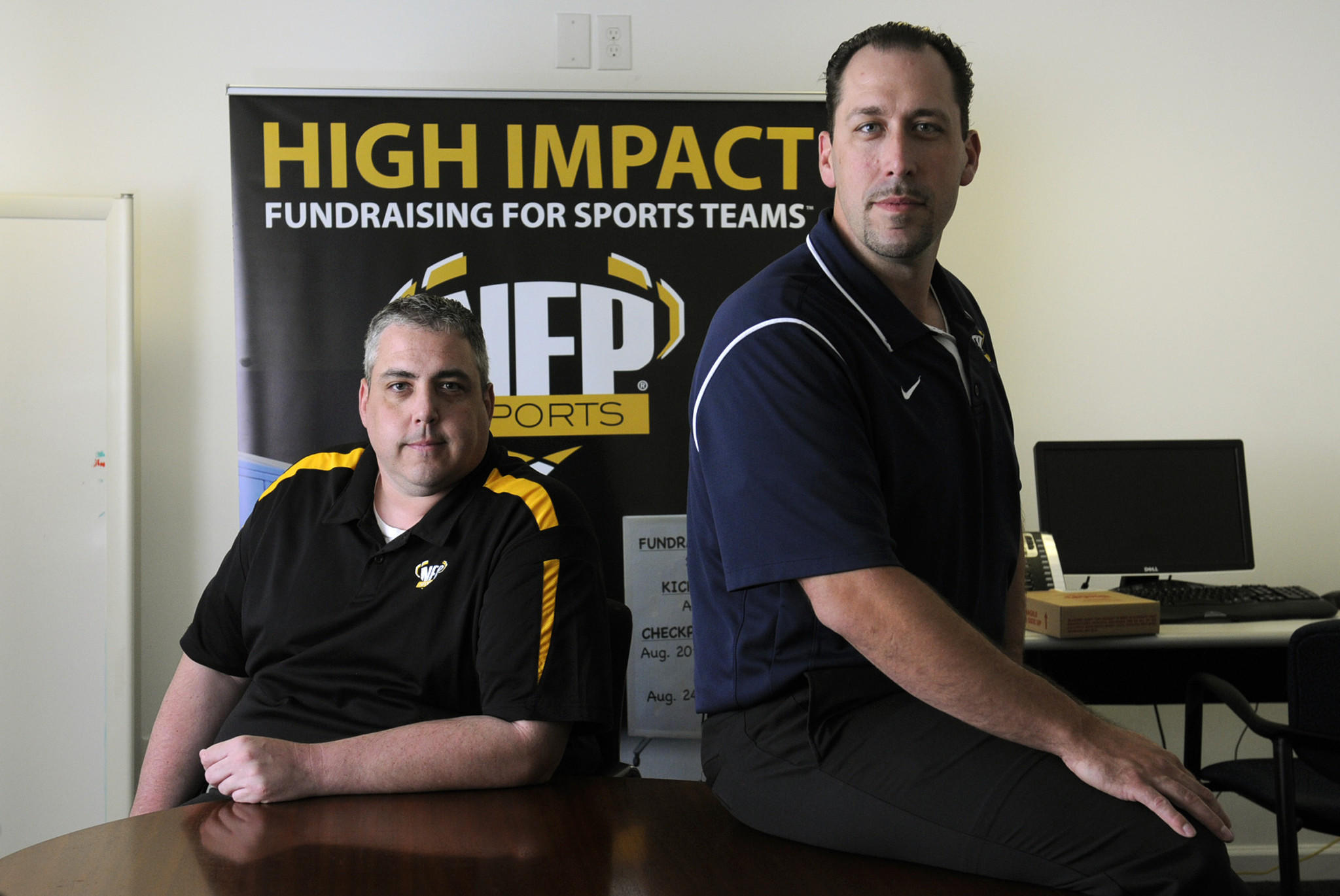 Don Crouch and James Thompson own NFP Sports, a high school sports fundraising company.