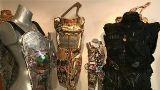 Video: NYC artist creates wearable armor sculpture