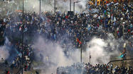 Argentine police break up riots in wake of World Cup loss