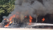 Raw video: I-94 semi fire