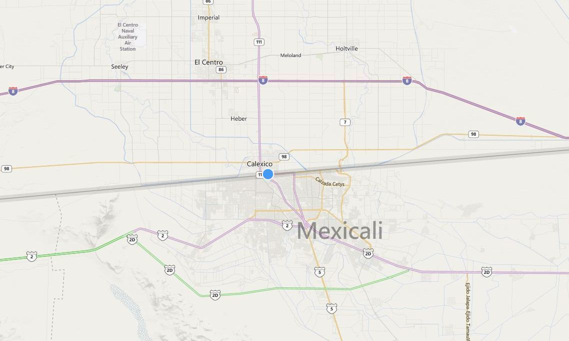 Man tries to hang himself from U.S.-Mexico border fence in Calexico
