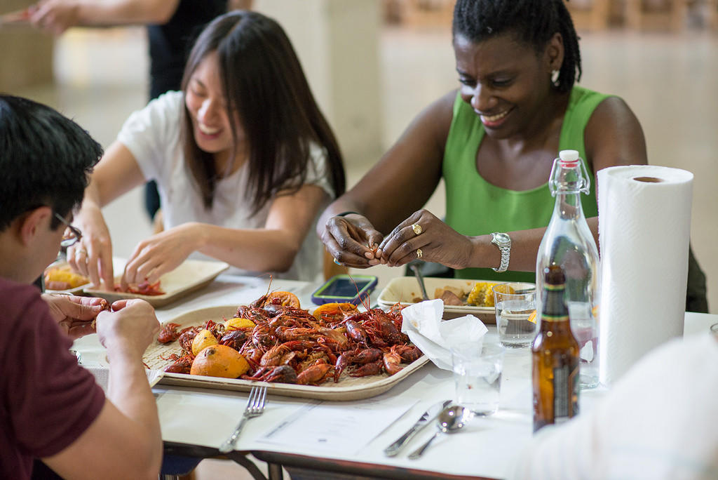 Dinner Lab events like this one in New York City often focus on humble foods like crayfish.