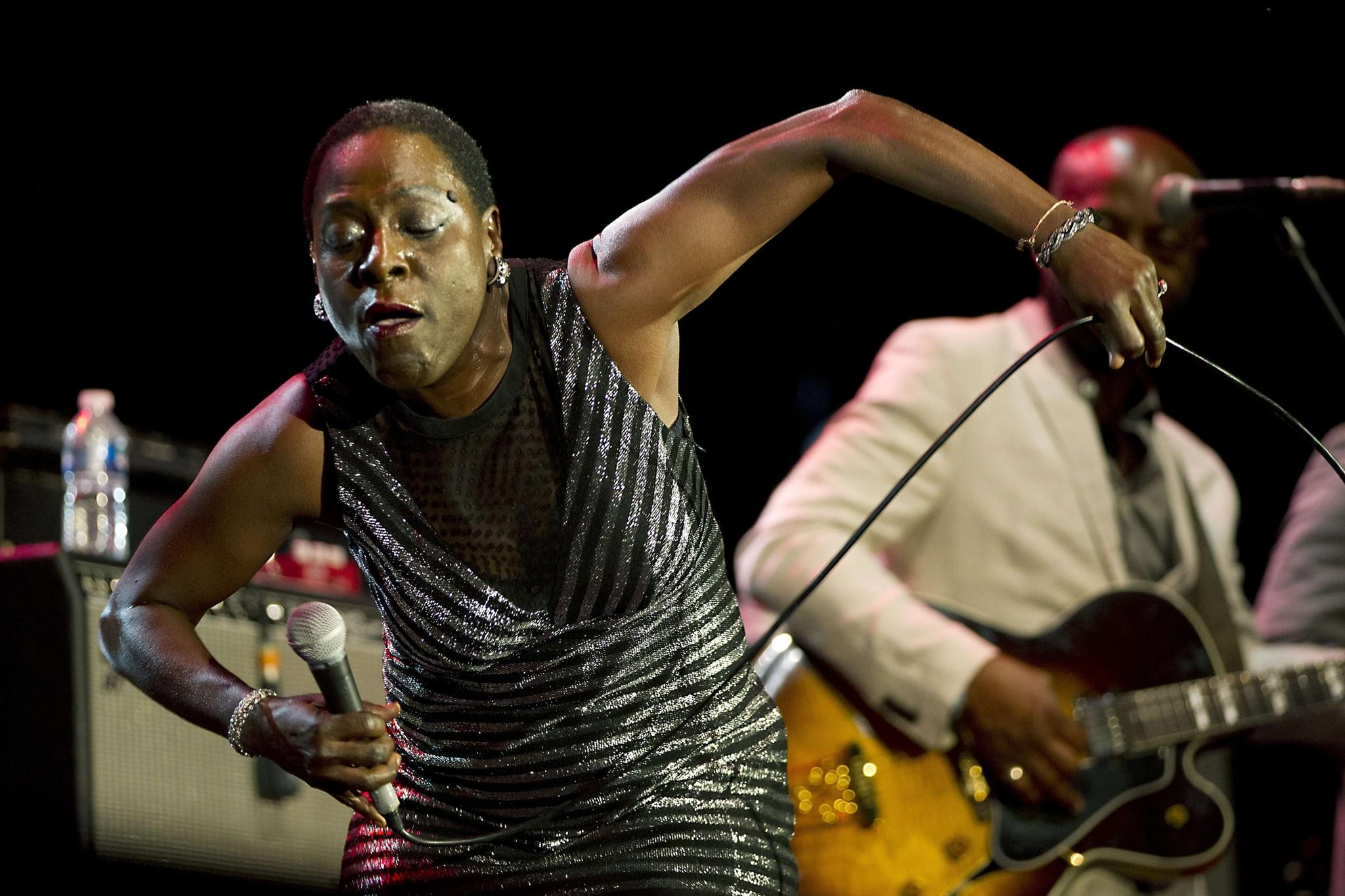 Sharon Jones, shown here performing in Rotterdam recently, headlines Artscape with the Dap-Kings on Friday.