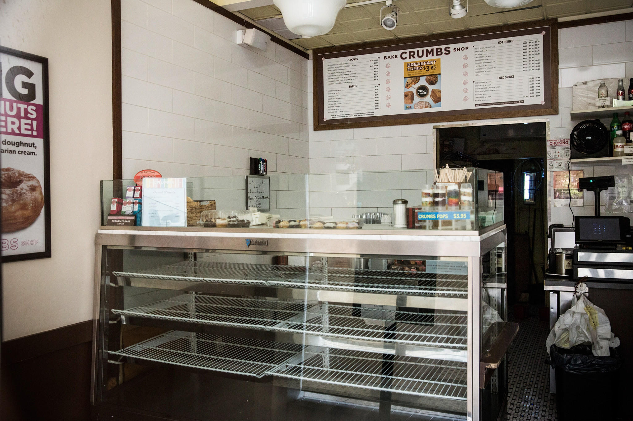 A Crumbs Bake Shop sits empty after it was announced Crumbs is closing all its stores on July 8, 2014 in New York City. Crumbs has closed all of its locations after low sales, a reported a loss of $18.2 million last year, and after being de-listed by Nasdaq last week.
