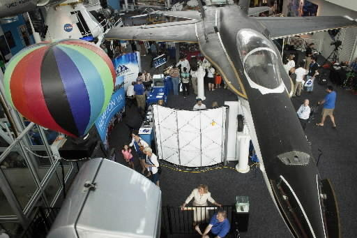NASA Langley Technology Day at the Virginia Air & Space Center on Tuesday showcased exhibits that illustrate technology development efforts supporting deep space exploration, science, and aeronautics missions.