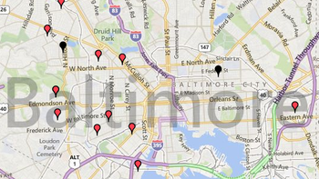 baltimore reaches 100 homicides for year with overnight shootings