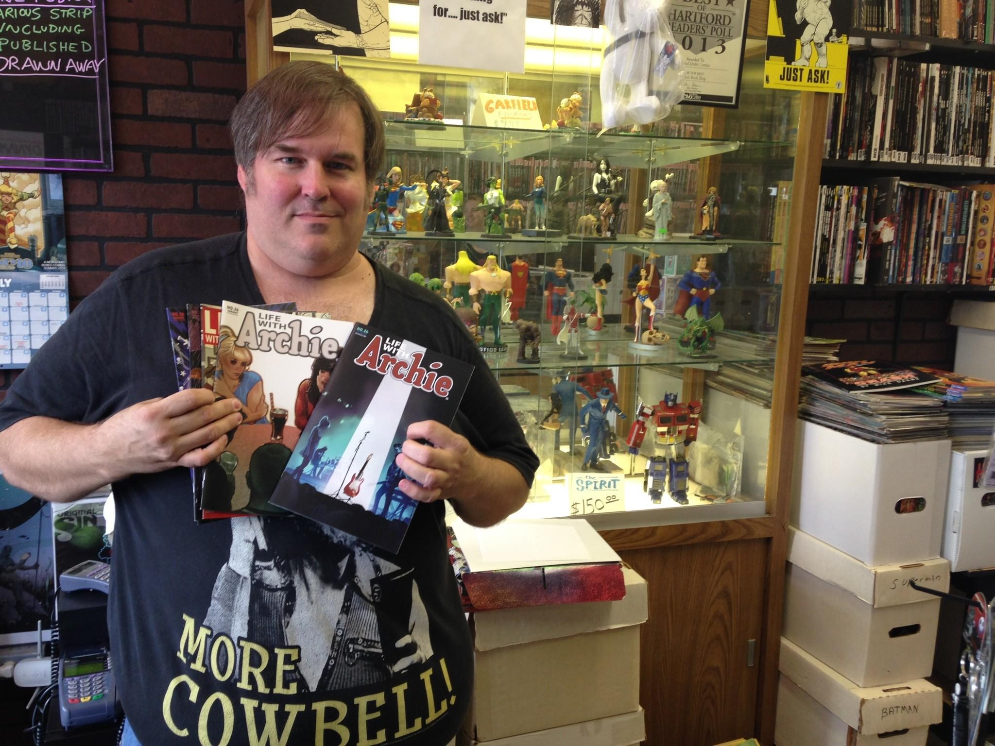 "Scott Prentice, an employee at A Hero's Legacy comic shop in Manchester and a longtime comic book collector, says the ""Life With Archie"" series ""from day one has been dealing with different adult items."" Archie's death in the latest issue ""kind of fits in with the more mature subject matter. I personally wasn't surprised they weren't going to do it this way."""