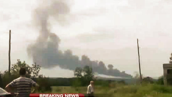 Plane Crashes Near The Border Of Ukraine