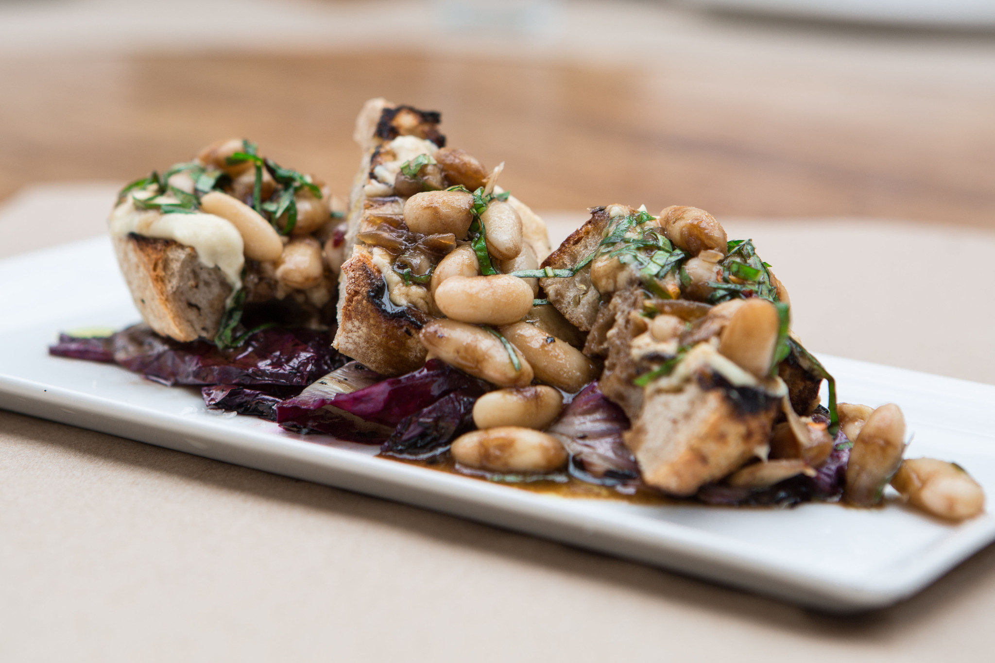 White Bean Bruschetta with Grilled Radicchio Salad ...