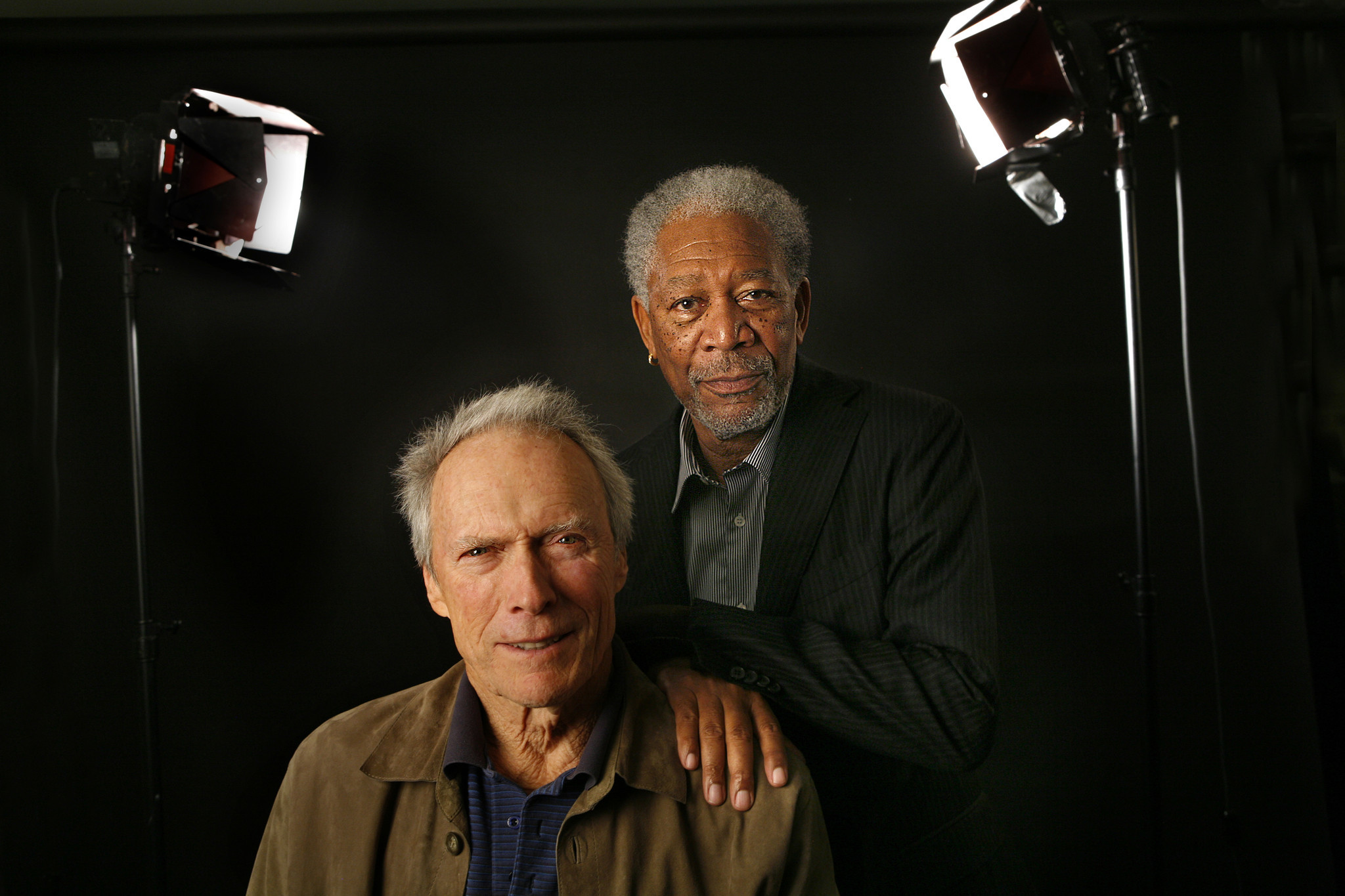 Morgan Freeman and Clint Eastwood - LA Times