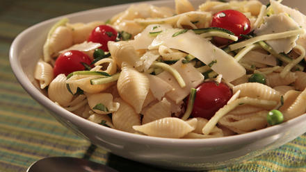 Wolfe's Market's shell pasta salad with lemon zest