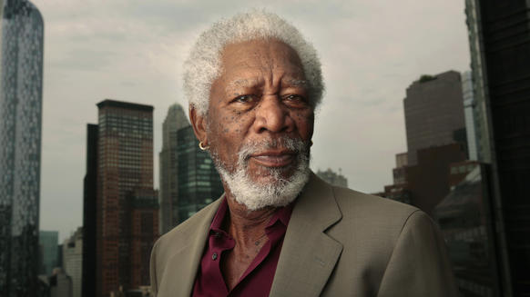 "Morgan Freeman, who stars in the new movie ""Lucy,"" in New York on July 10."