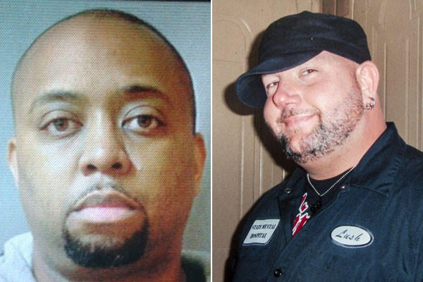 Maryland State police say that N.J. police officer Joseph Walker (left) shot and killed Joe Harvey (right) during a traffic dispute.