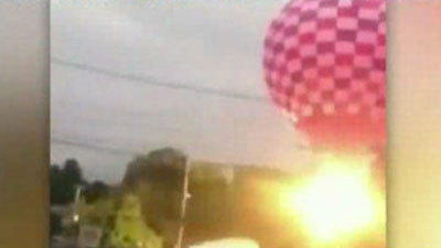 Hot Air Balloon Crash In Clinton, Mass.