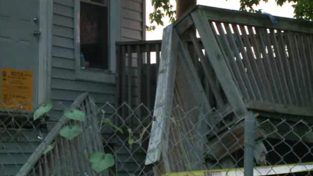 Video: 8 injured in porch collapse
