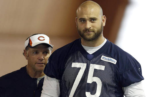 Chicago Bears offensive guard Kyle Long paid $1.35 million for a five-bedroom brick Georgian-style house in Lake Forest.