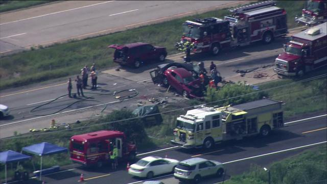 Raw video: 4 killed in I-55 accident