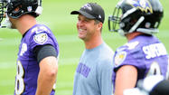 Ravens coach John Harbaugh setting the tone on a new season