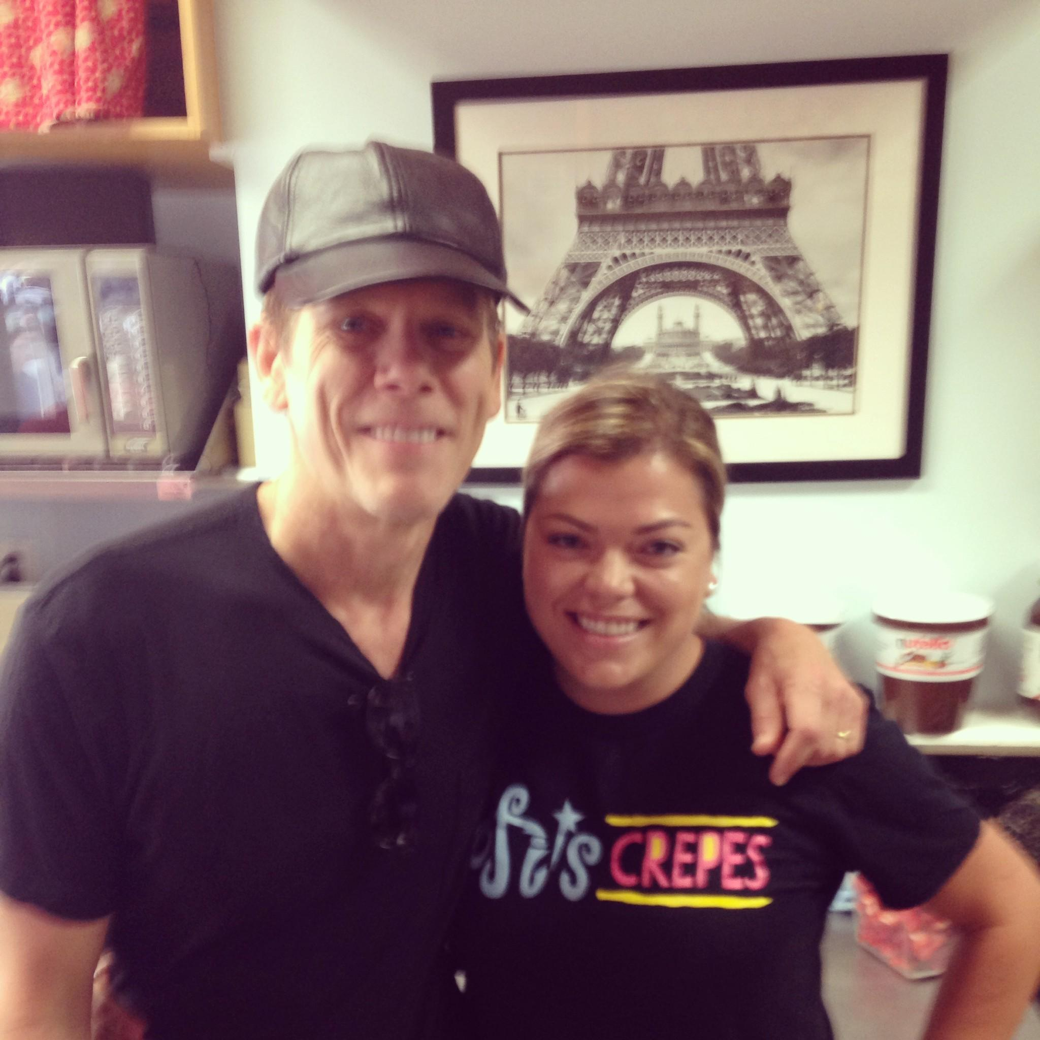 Stephanie Barba, of Sofi's Crepes, now has one degree of separation from Kevin Bacon.