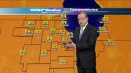 Video: Temps hit 90 today, storms expected tonight