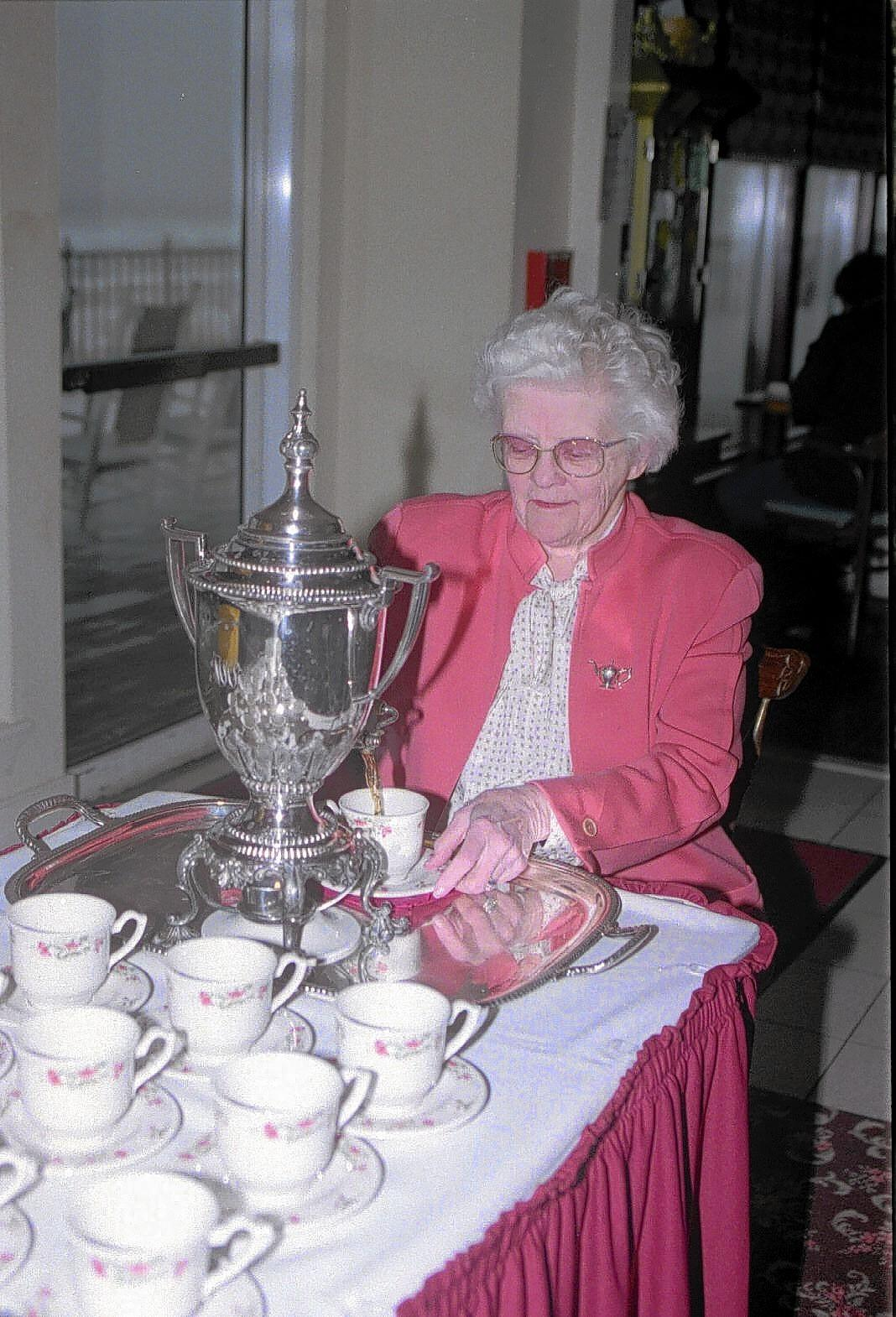 Thelma Conner, owner and founder of Ocean City's Dunes Manor Hotel at 28th Street, served tea to hotel guests and the public nearly every day.