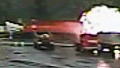 Raw: Truck, Train Crash Leads to Fireball