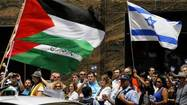 Palestine and Israel supporters protest in Chicago Loop