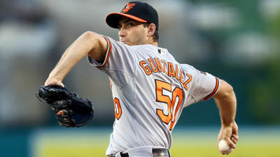 Miguel Gonzalez pitches into eighth inning in Orioles' 4-2 victory over the Angels