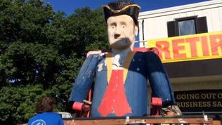 Video: St. Charles handmade soldier statue finds new home