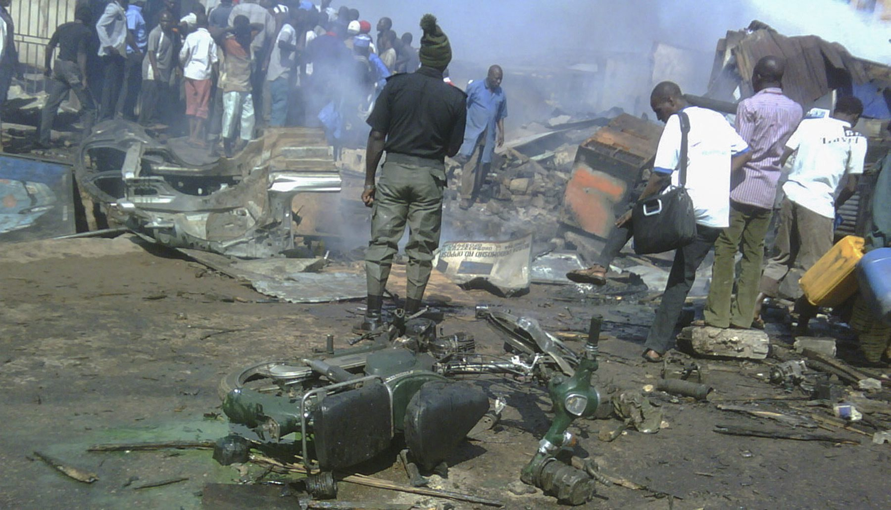 Dozens killed in twin blasts in Nigeria