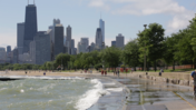 Video: Heavy waves hit Lake Michigan
