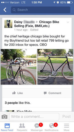 'Chicago Bike Selling' sting