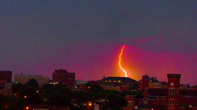 July lightning over Baltimore [Video]