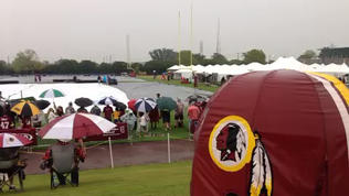 Video: Rainy Start for Redskins Camp
