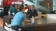 GrubHub, fresh off IPO, beats profit 2nd-qtr expectations