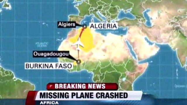 Video: Officials say Air Algerie flight has crashed