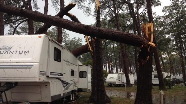 Video: Storm rips through  Cherrystone Family Campground