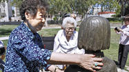 Photo Gallery: Former comfort women visit peace monument dedicated to sex slaves
