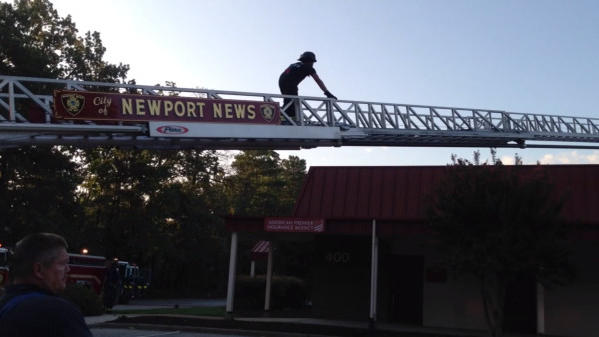 Video: Fire at Denbigh Professional Building