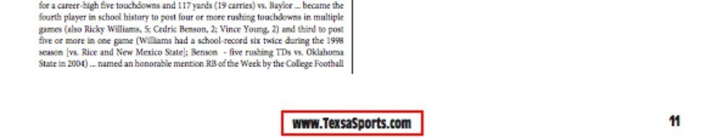 Longhorns misspell Texas throughout their own media guide