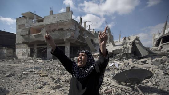 Gaza City rubble