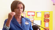 Pelosi promotes Democratic agenda for women