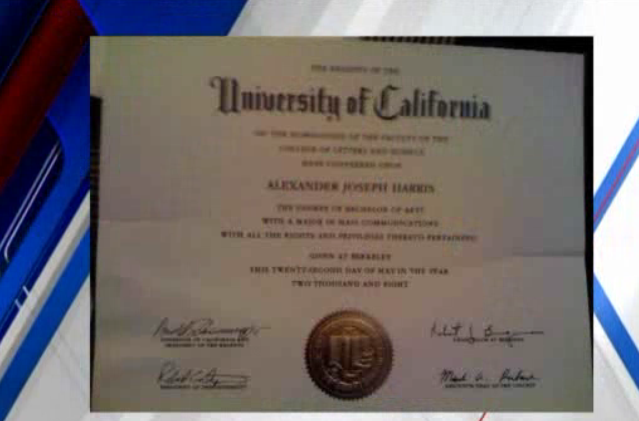 Typo On Uc Berkeley Diploma Goes Viral Chicago Tribune