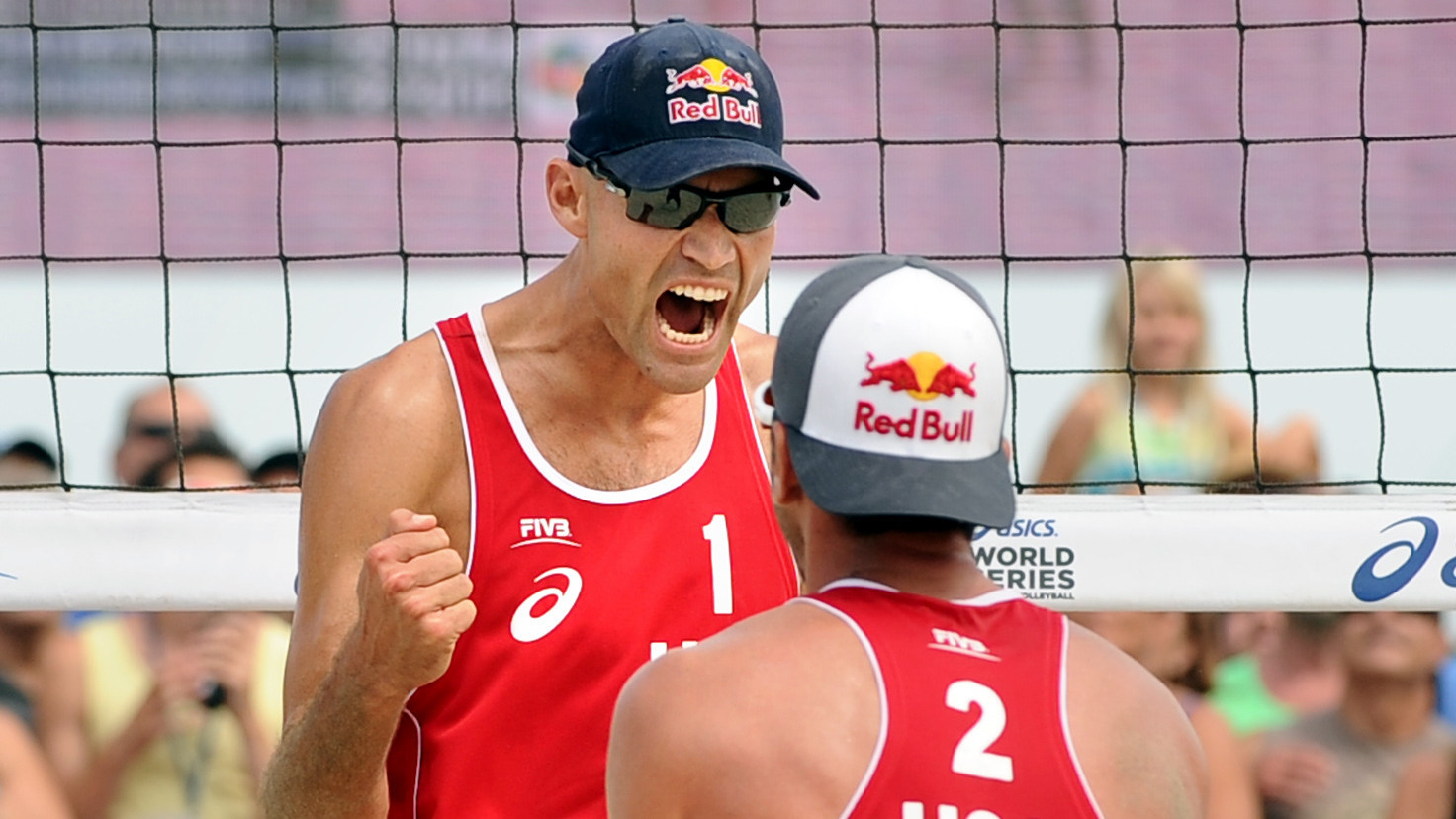Beach volleyball titles in Long Beach are an all-American affair