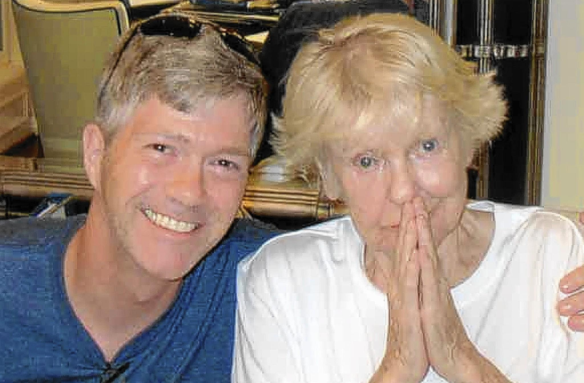 DeSale University's John Bell, head of the division of performing arts, during a 2013 visit with Elaine Stritch at her home in in Birmingham, Mich. The two were friends for six years.