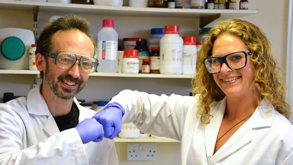 Fist bump researchers