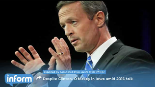 O'Malley in Iowa amid 2016 presidential talk [Video]