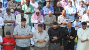 Thousands of Muslims filled Toyota Park to celebrate Eid-al-Fitr