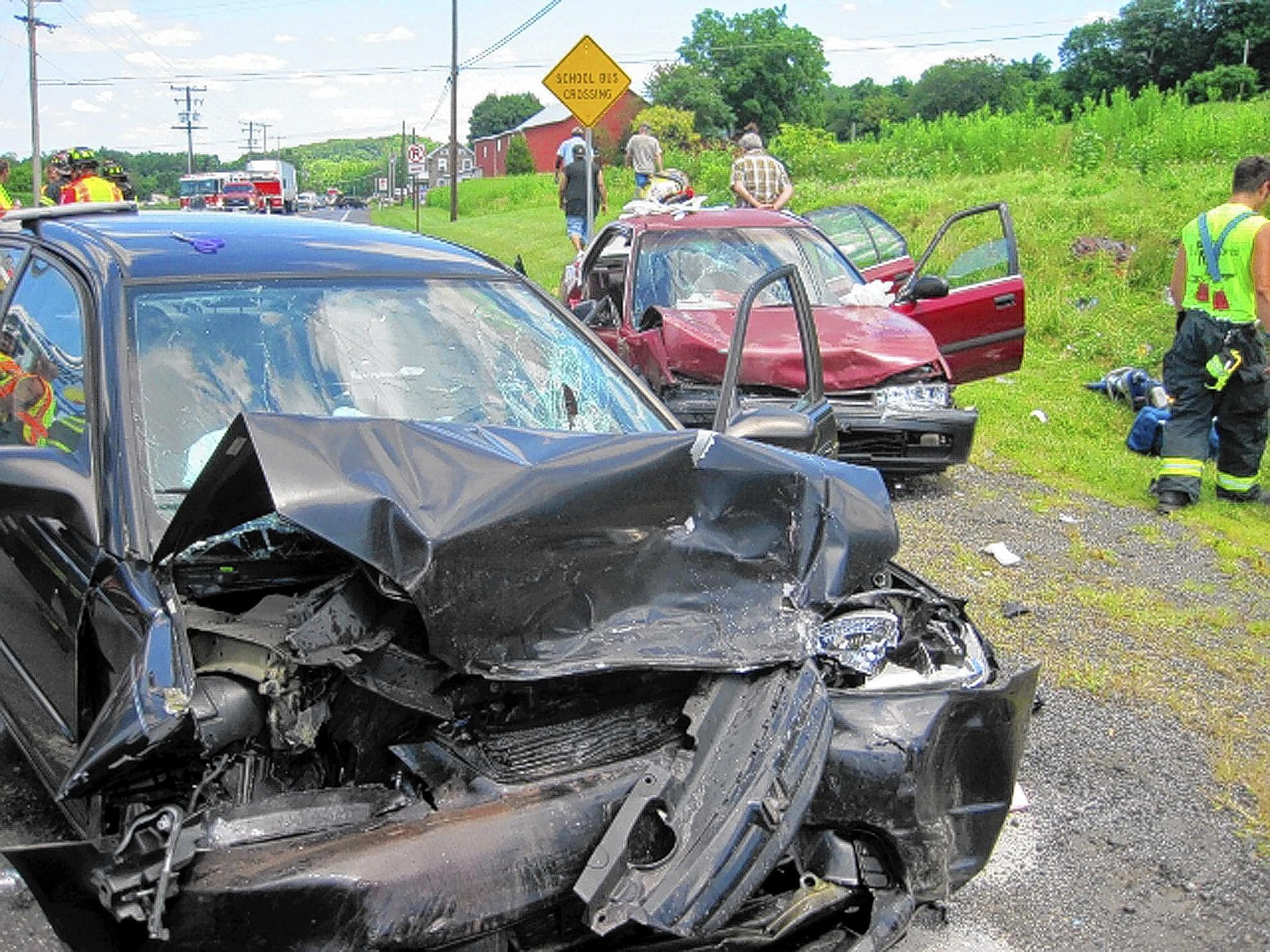 Amie J. Minnich, 38, of Richland Township, Bucks County, was killed in this head-on collission on Route 100 in Berks County Friday afternoon. According to state police, Minnich crossed into the path of an oncoming car about 1:25 p.m.